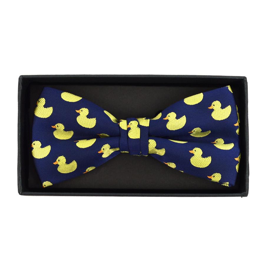 Men's Blue Duck Banded Bow Tie (NFB10026)