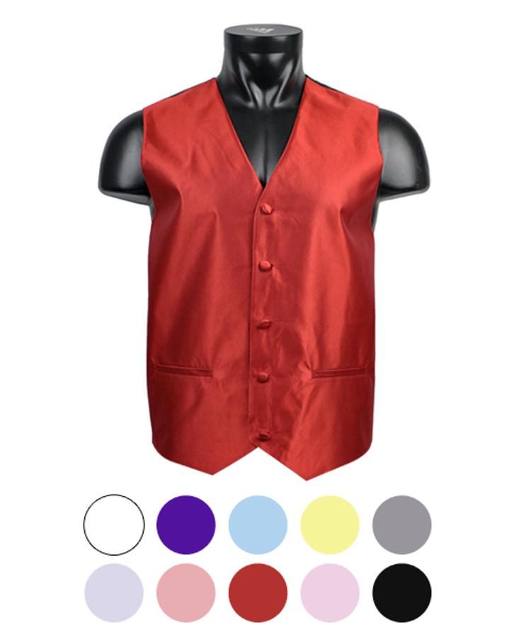 """""""Textured"""" Men's Poly Woven Vest PMV3308"""