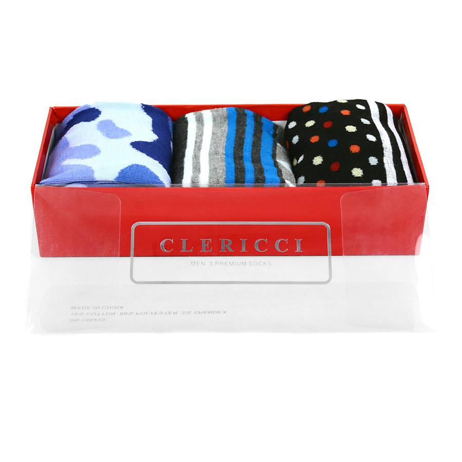 Fancy Multi Colored Socks Gift Red Box (3 paris in Box)  SGBL18