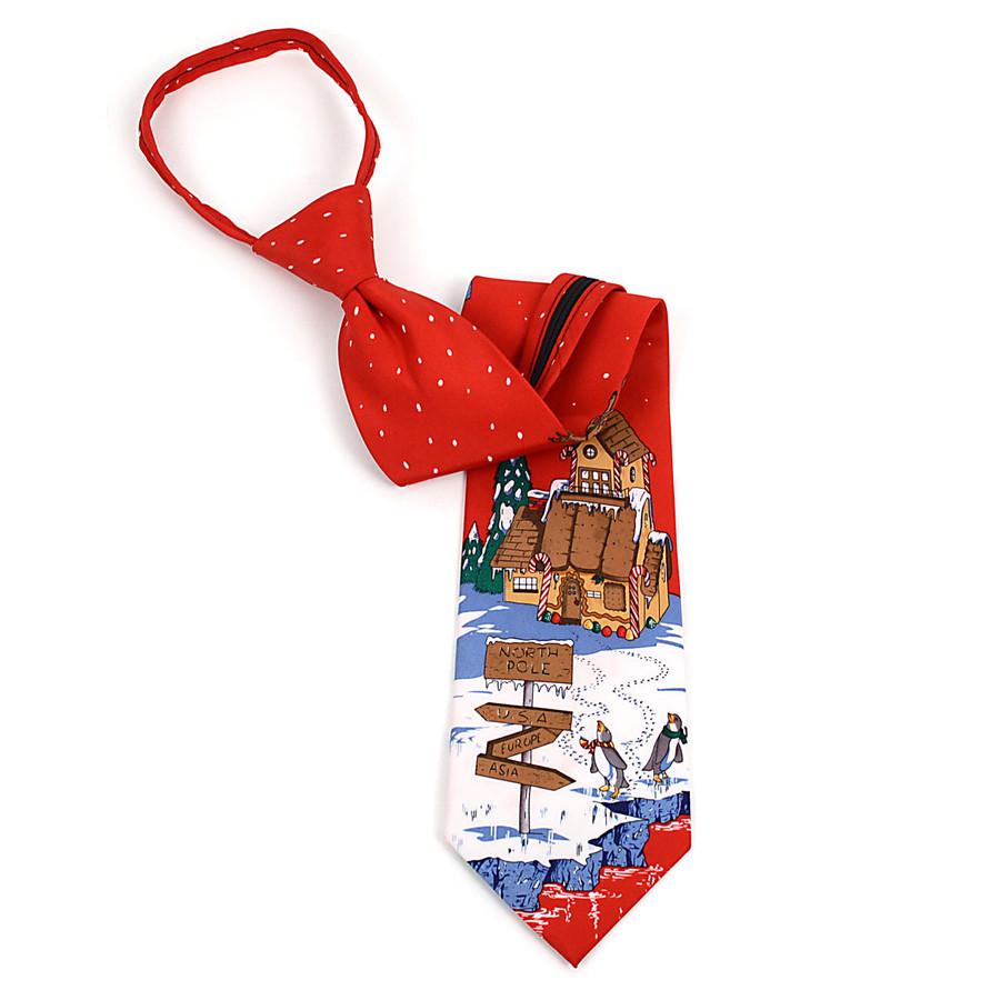 Poly Zipper Christmas Tie PZX4603-RD
