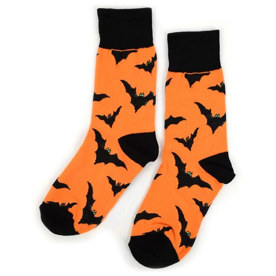 BG Halloween Bats Novelty Crew Socks for Women