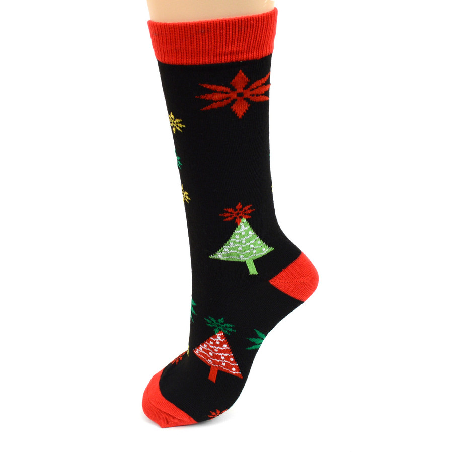 BG Christmas Santa Claus Women's Crew Socks- 3 Pairs Pack