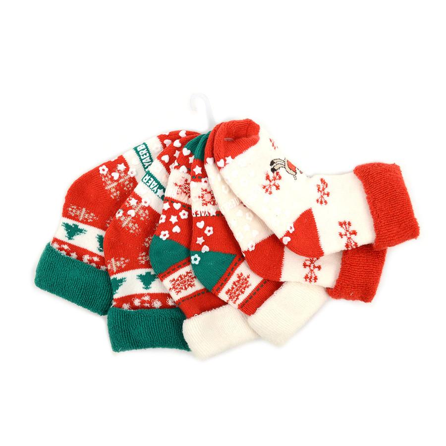 Infants Christmas Holidays Crew Socks 3 Pairs Pack