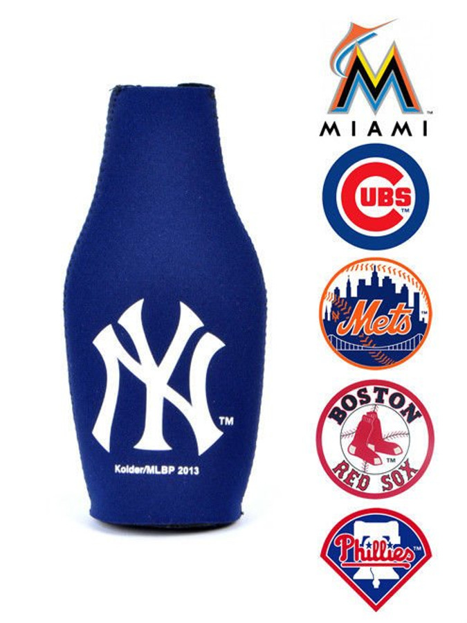 MLB Baseball Thermo Cool Bottle Beer Koozie Portable Stadium Drink Holder