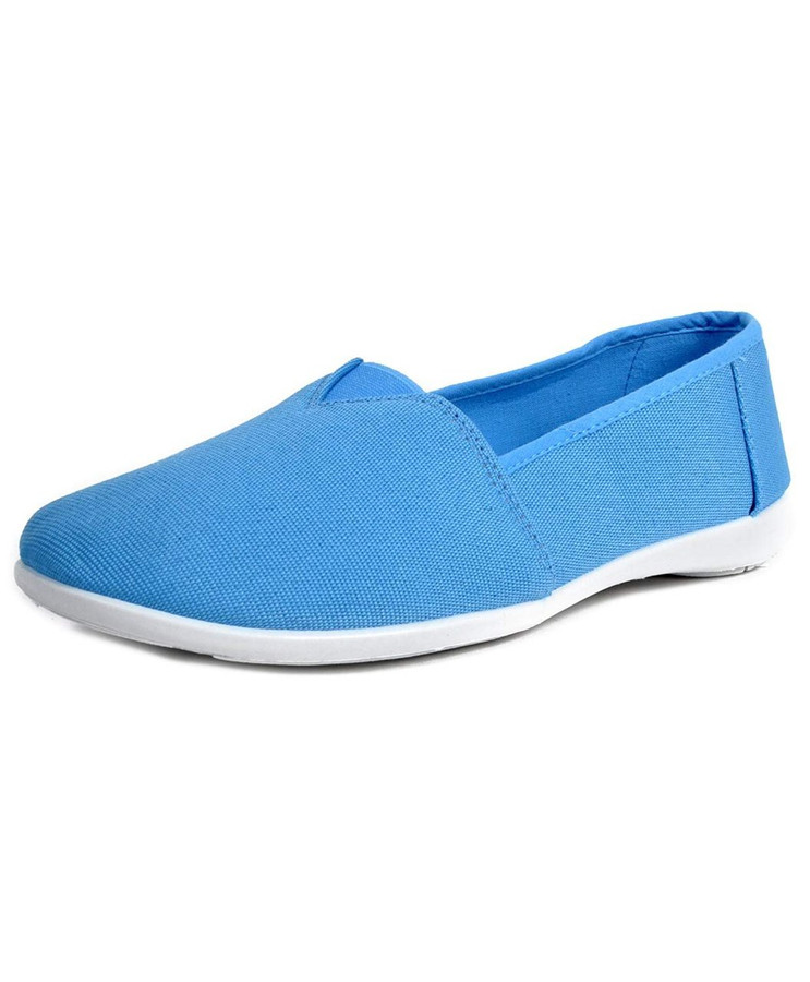 NIKI Women's Solid Espadrilles Canvas Shoes