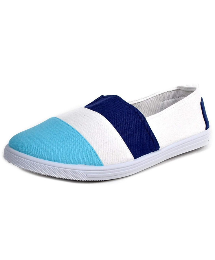 NIKI Women's 3 Tone Espadrilles Canvas Shoes
