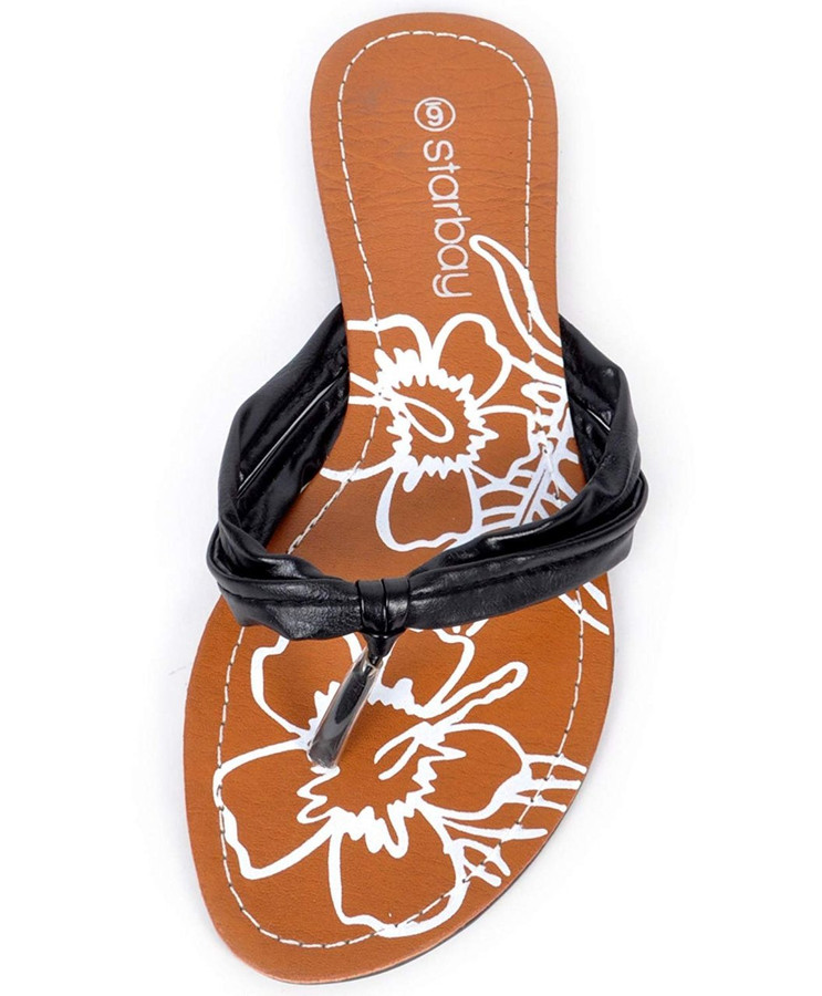 The Lily Flower Flip Flops