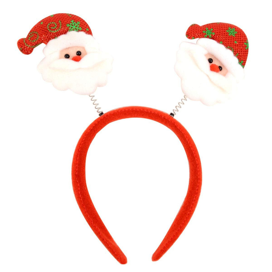 BG Red Christmas and Holiday Santa Claus Headband Polyester One Size Fits Most