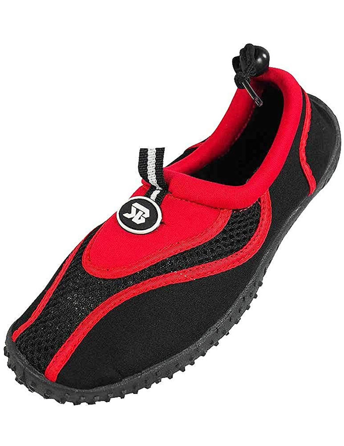 The Wave Womens Water Shoes Aqua Socks Pool Beach,Yoga,Dance and Exercise (6, Red 2907)