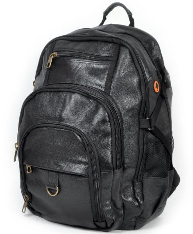 Black Vintage Haiku Leather Backpack