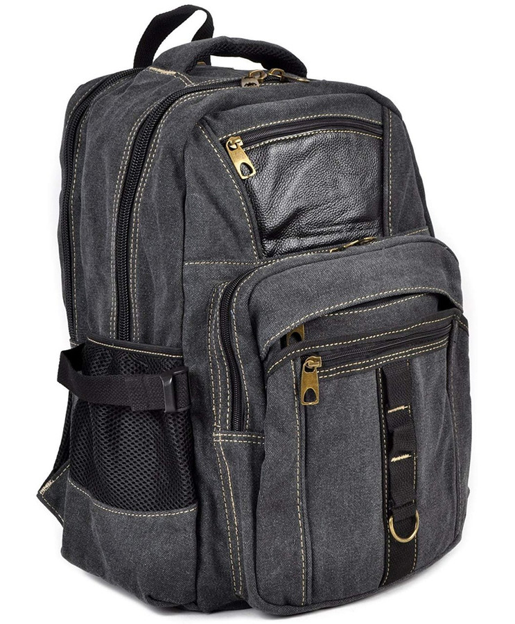 All-Around Black Canvas Backpack