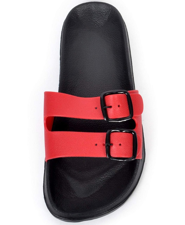 boxed-gifts Men's Comfort Buckled Sandals (11, Red)
