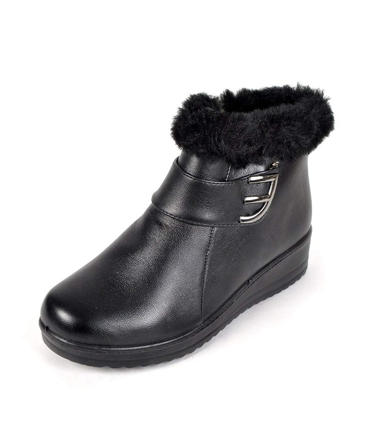 E for Elegance Faux Fur Snow Boots