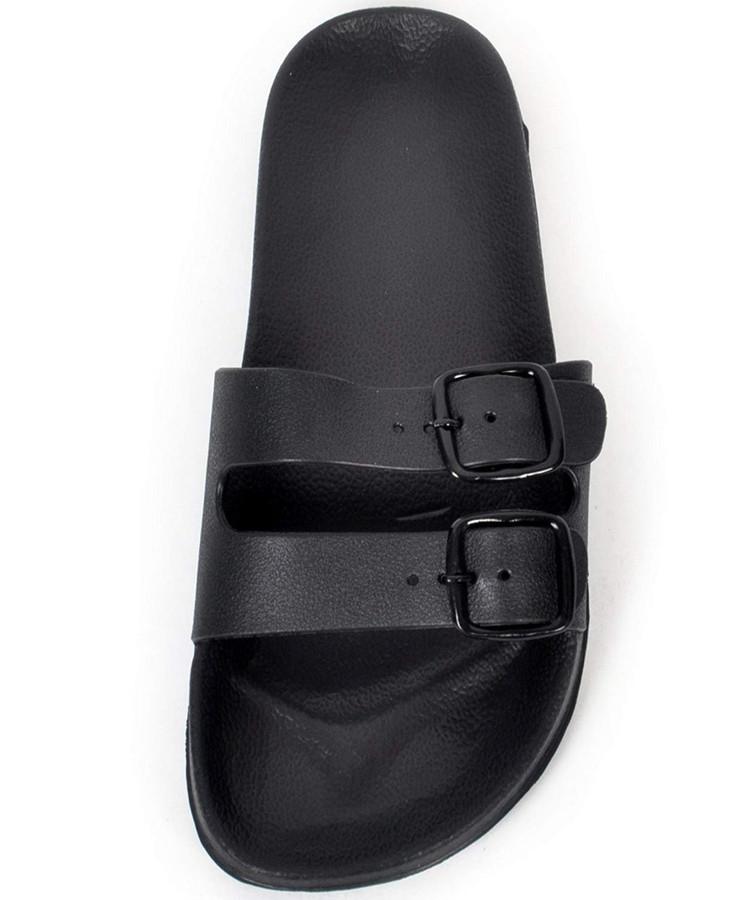 boxed-gifts Men's Comfort Buckled Sandals (8, Black)