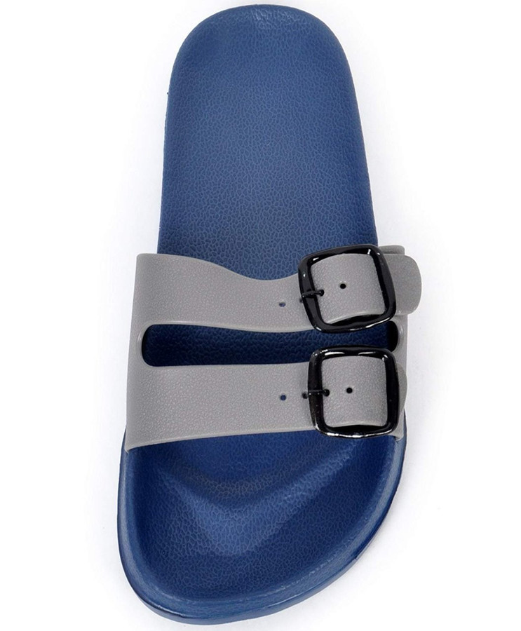 boxed-gifts Men's Comfort Buckled Sandals (9, Gray)
