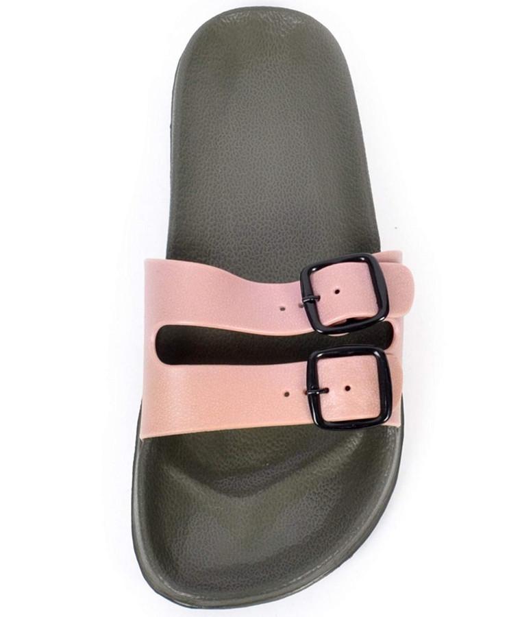 boxed-gifts Men's Comfort Buckled Sandals (8, Beige)