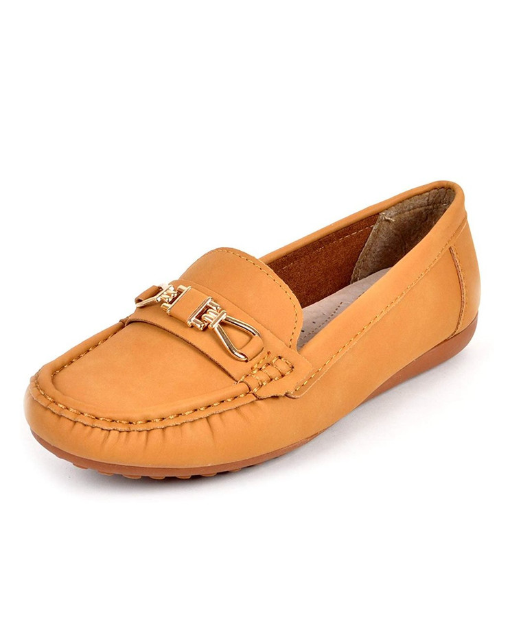 boxed-gifts Look-at-Me Women's Loafers (6, Yellow)