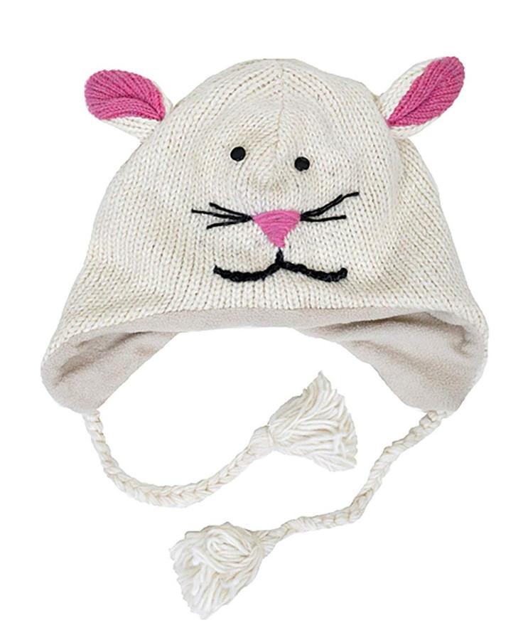 100% Wool 'Hat-imals' Plush Knit Winter Hats (Wool Collection)