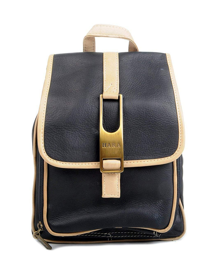 Chic Casual Leather Small Backpack
