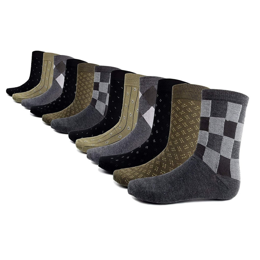 Business Crew Socks Collection - 12 Pack