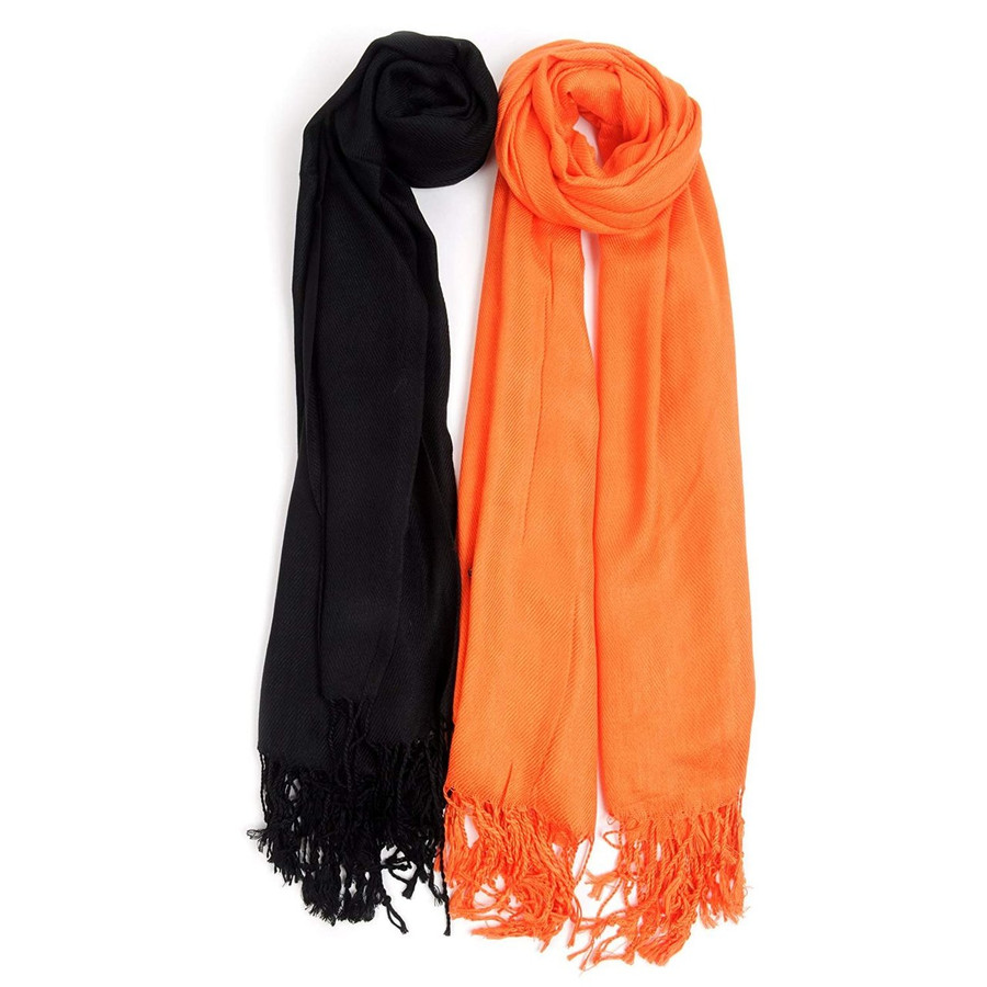 Halloween Inspired Solid Classic Pashmina Scarf Set