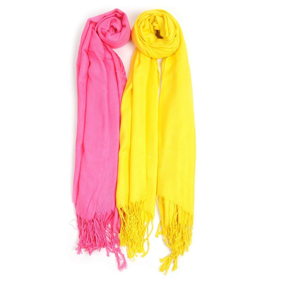 Pink Lemonade Inspired Solid Classic Pashmina Scarf Set