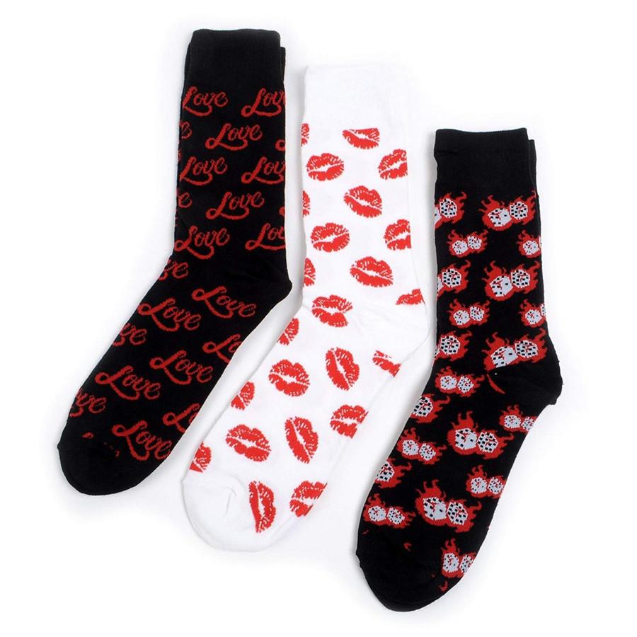 Men's Lucky Love Novelty Crew Socks
