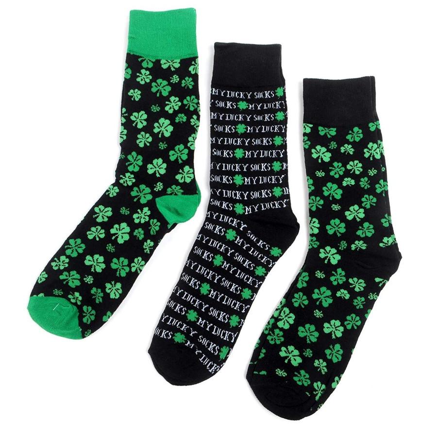 Men's Luckiest Fella Alive Novelty Crew Socks