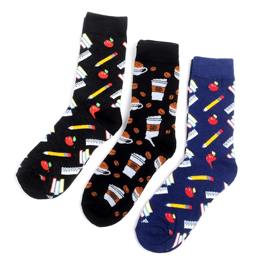 Women's School Daze Novelty Crew Socks