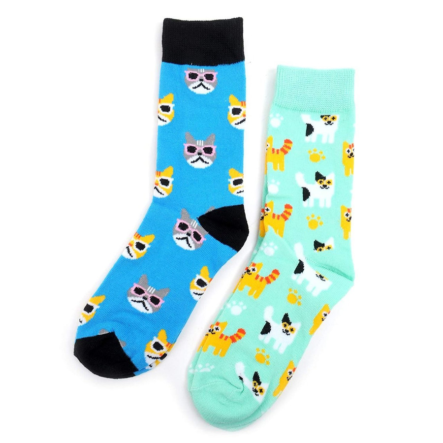 Women's Cat's Meow Novelty Crew Socks