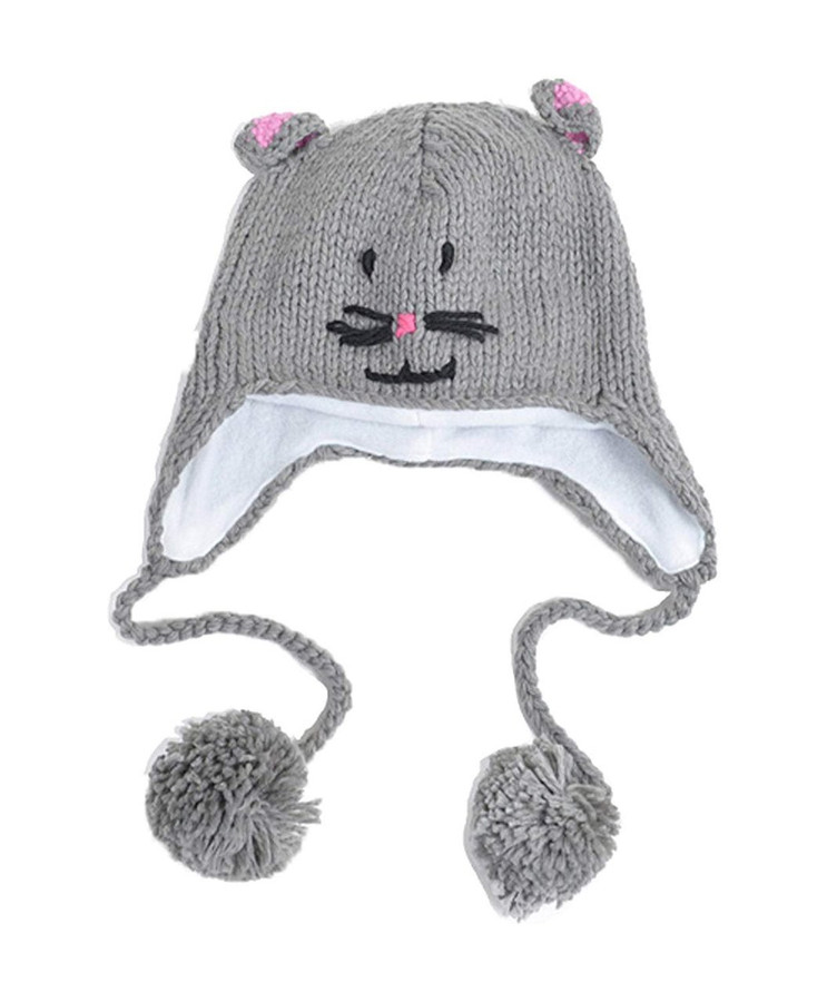 Hat Winter Beanie Knitted Animal Cap Kids Warm Ears Kid Cute Animals