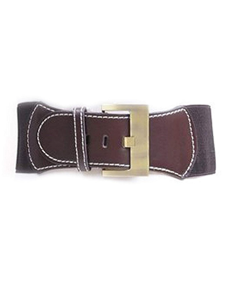 "Urban Cowgirl Elastic Belt, S/M (27""), Brown"