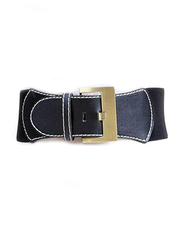 "Urban Cowgirl Elastic Waist Belt, S/M (27""), Black"