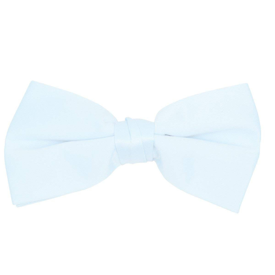 Classic Solid Poly Satin Boy's Clip on Tie-Baby Blue