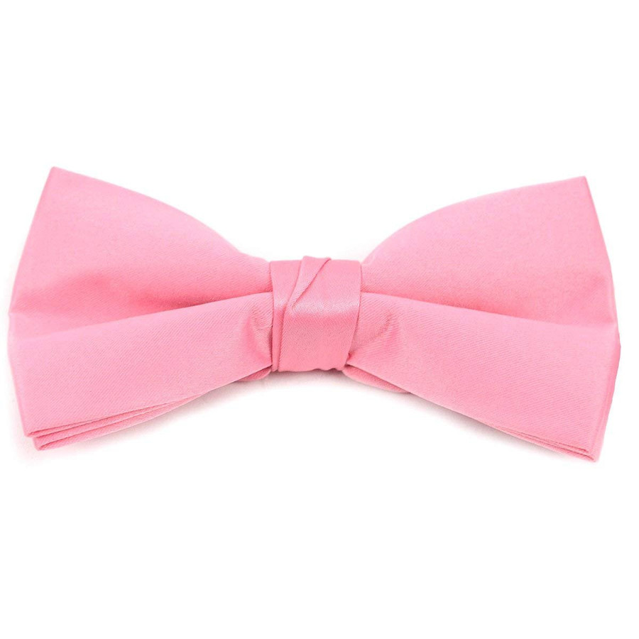 Kids Pre Tied Clip on Bow Tie-Hot Pink