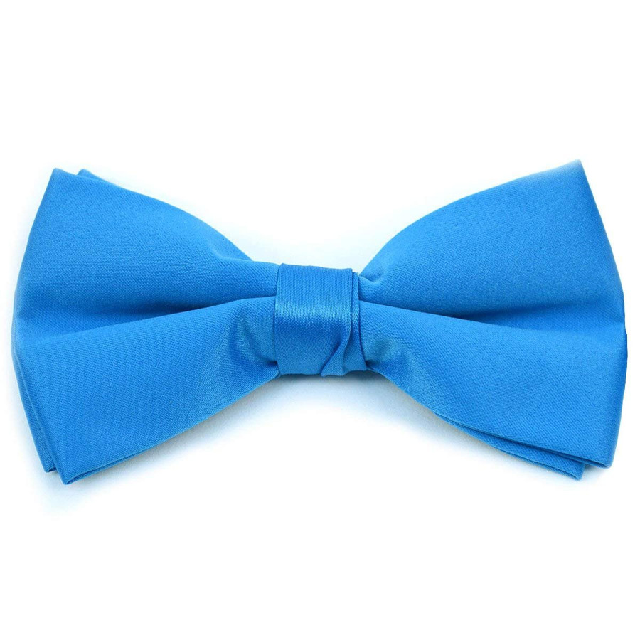 Kids Pre Tied Clip on Bow Tie-Cobalt