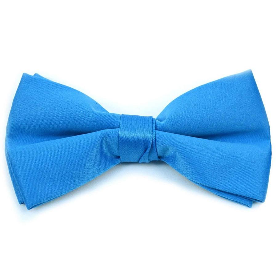 Kids Pre Tied Clip on Bow Tie-Cobalt