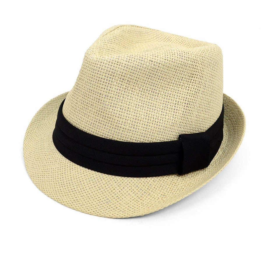 WESTEND Classic Style Fashion Fedora with Black Band
