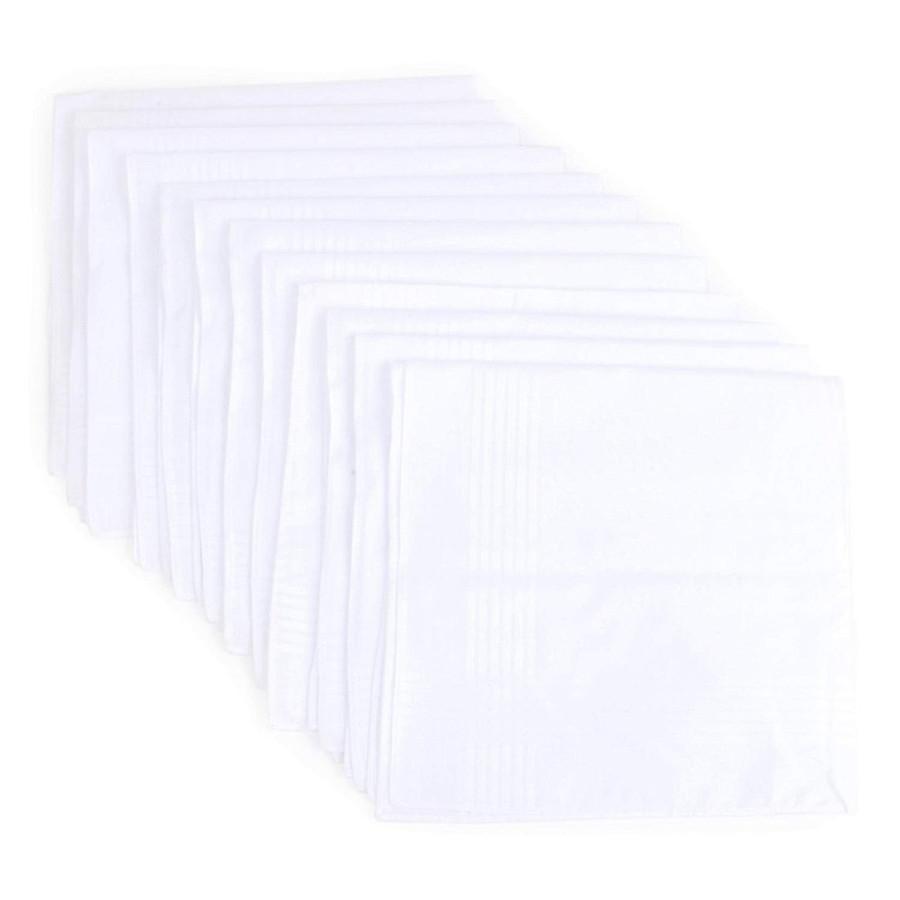 Men's 12 Piece Cotton Handkerchief