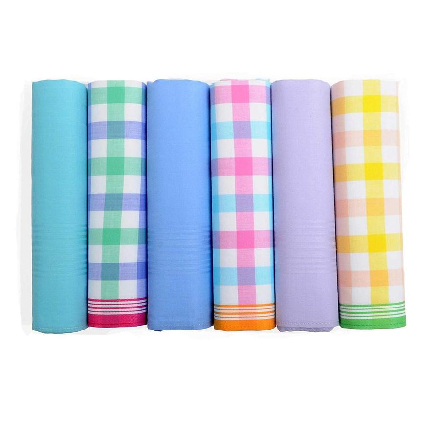 Men's 6pc 100% Cotton Fancy Handkerchief set