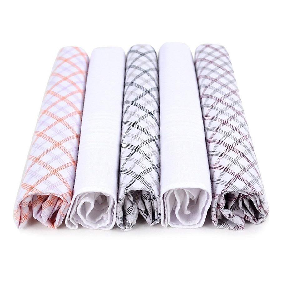 Laurant Bennet 5pc Fancy Men's Cotton Handkerchiefs