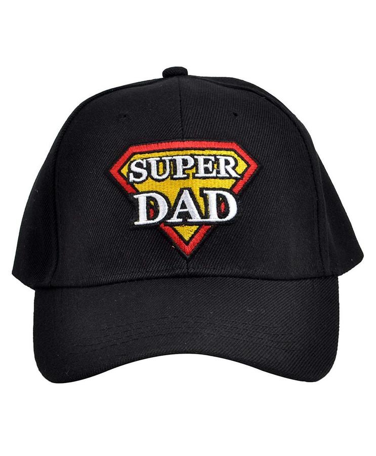 Parquet Mens Black Super Dad Superdad Embroidered Adjustable Baseball Hat
