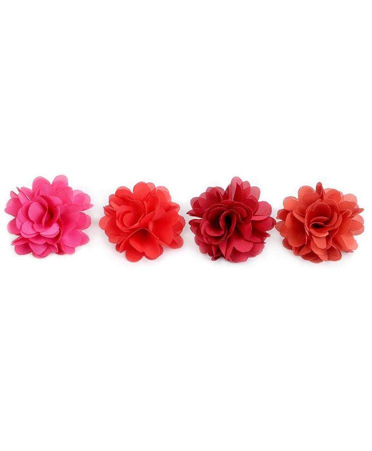 Solid Mini Bouquet Clutch Back Flower Lapel Pins Set