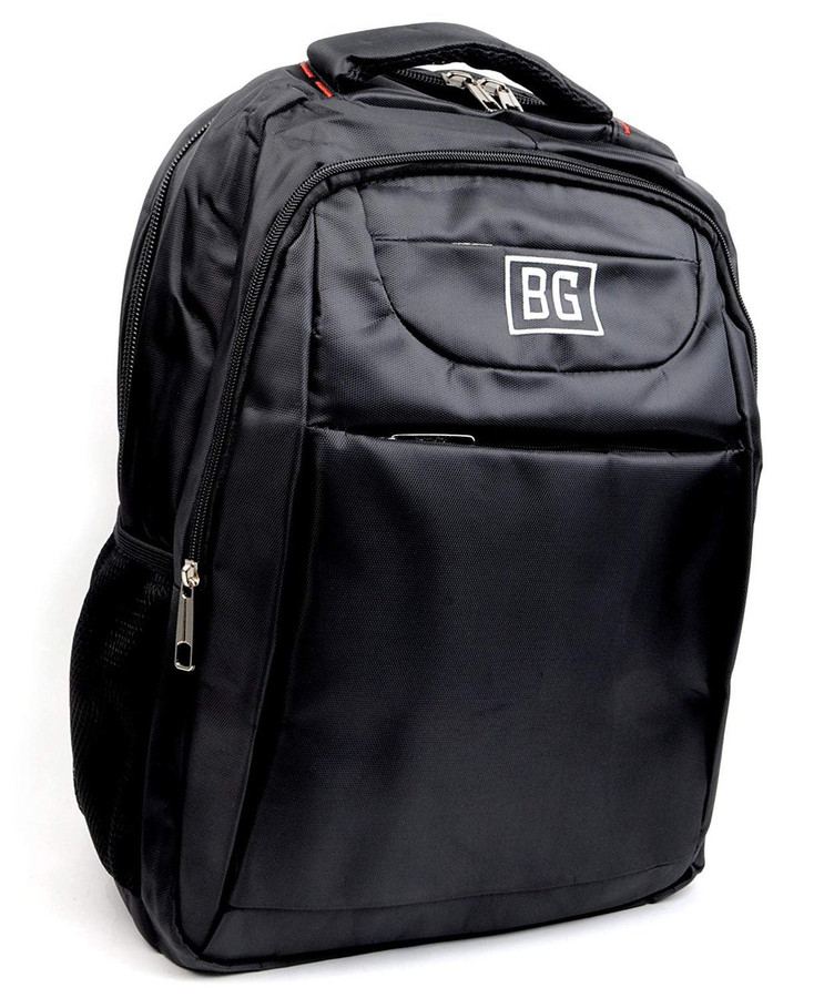 BG Black Durable Laptop Business Travel Ventilated Moisture Wick Padded Backpack