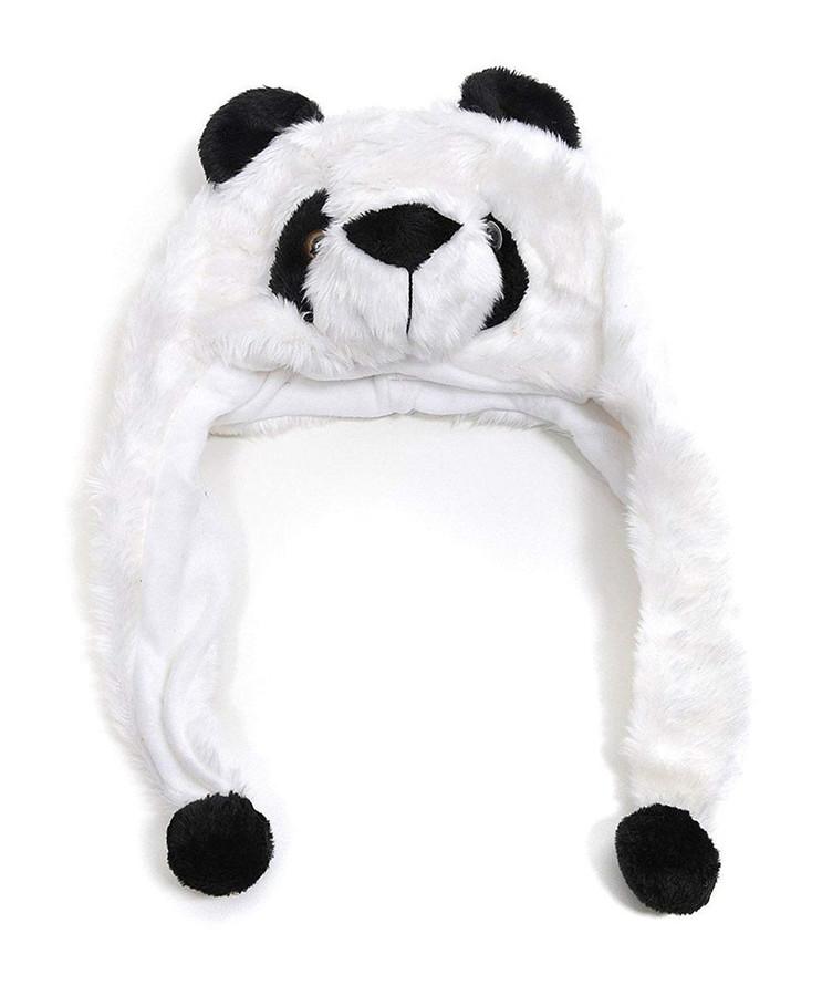 Panda Bear Plush Animal Hat with Ear Flaps