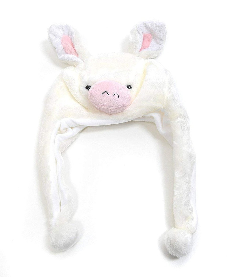 Pig Plush Animal Hat with Ear Flaps