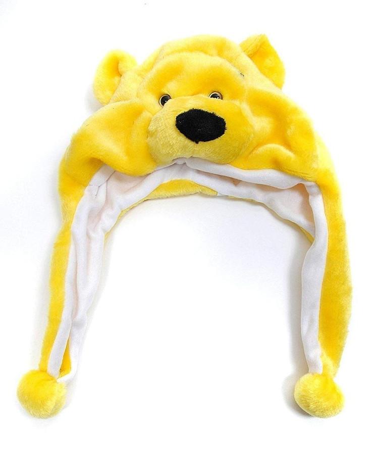 Bear Plush Animal Hat with Ear Flaps
