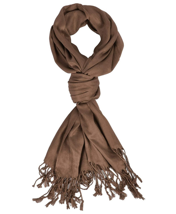 Elegant Dark Brown Pashmina Scarf