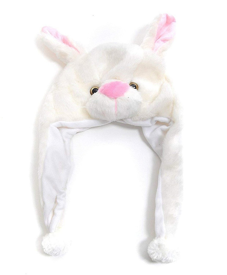 Bunny Plush Animal Hat with Ear Flaps