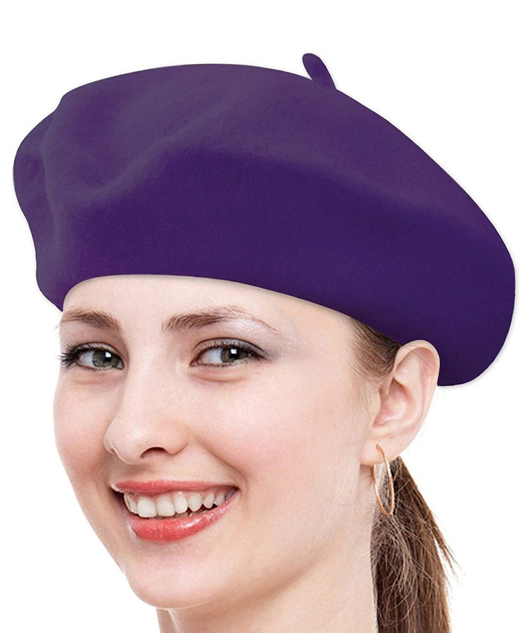 boxed-gifts Solid Color French Wool Beret